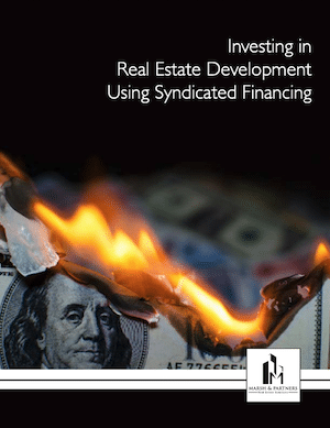 Real estate investors can use syndicated financing to engage in development projects offering portfolio diversification and a truly passive investment
