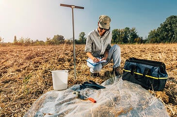 A geotechnical engineer usually conducts a soil study, or geotechnical survey, to determine the feasibility of construction and real estate development.