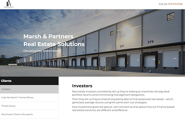 Marsh & Partners updated website provides information on commercial real estate topics like syndicated finance and sale leaseback